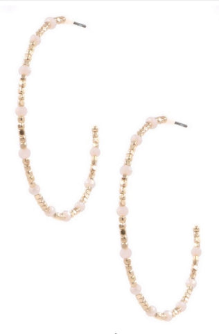 The Becca Beaded Hoops