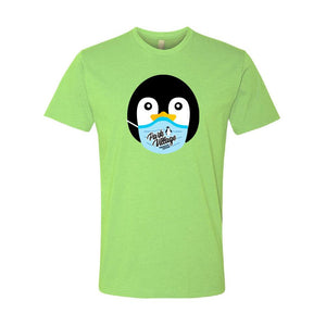 PARK VILLAGE MASK DESIGN T-SHIRT - GREEN APPLE