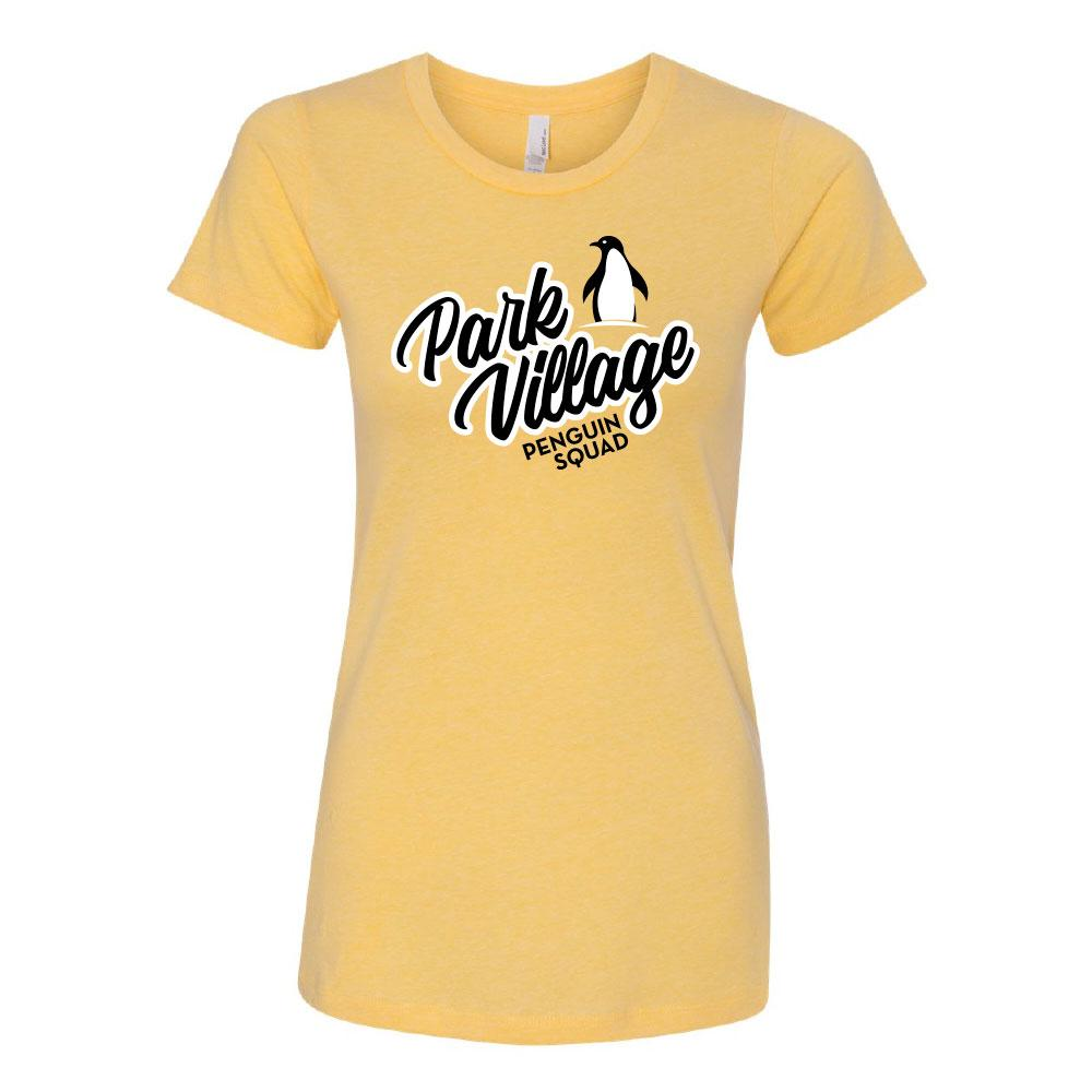 PARK VILLAGE SQUAD DESIGN T-SHIRT - BANANA