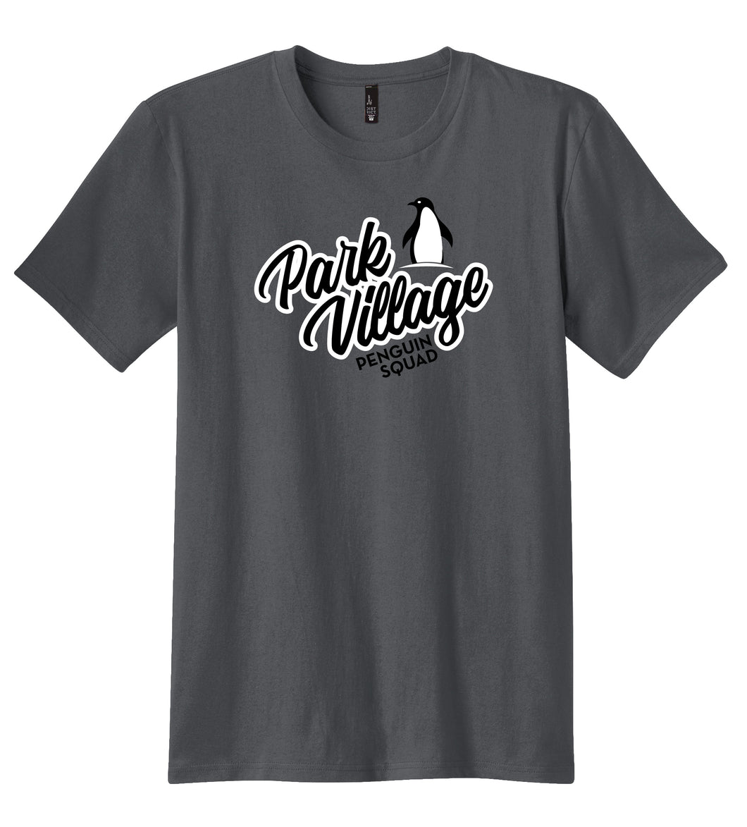 PARK VILLAGE SQUAD DESIGN T-SHIRT - CHARCOAL
