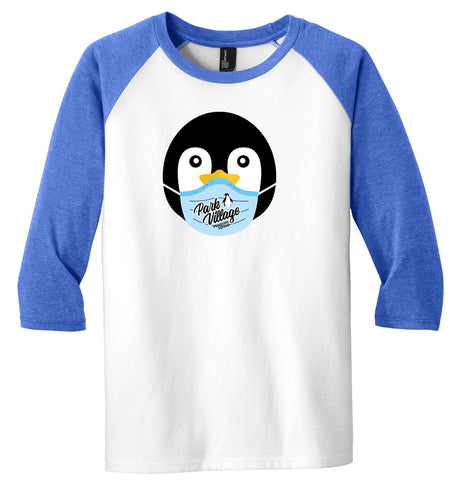 PVF Penguin Mask Youth Raglan 3/4 Sleeve - Royal-Frost/White