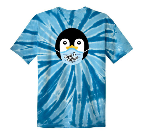 PVF Penguin Mask Port & Company Youth Tie-Dye - Ocean-Rainbow