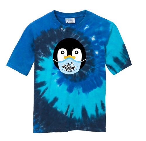 PVF Penguin Mask Port & Company¨ Youth Tie-Dye Tee - Royal