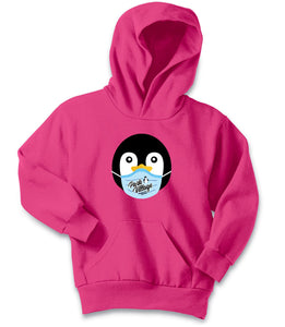 PVF Penguin Mask Port & Company Youth Core Fleece Pullover - Sangria