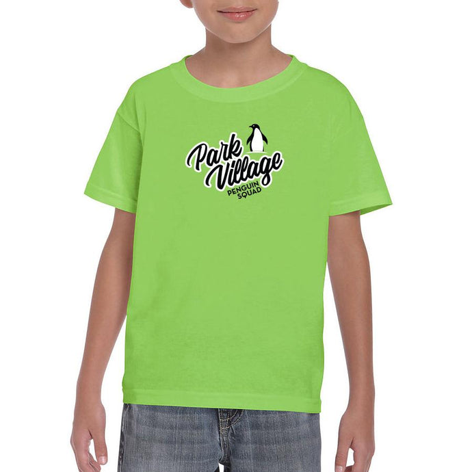 Penguin Squad - Gildan 8000B - Youth DryBlend¨ T-Shirt- LIME