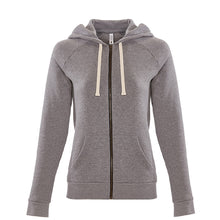 Load image into Gallery viewer, Penguin Squad - Next Level Apparel 9603 - Women's PCH Raglan Zip Hoody- HEATHER GRAY