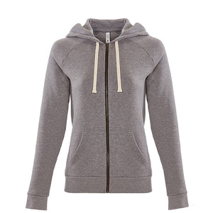 Penguin Squad - Next Level Apparel 9603 - Women's PCH Raglan Zip Hoody- HEATHER GRAY
