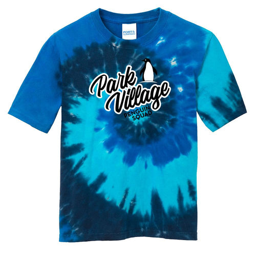 Port & Company - Youth Tie-Dye Tee - Ocean-Rainbow