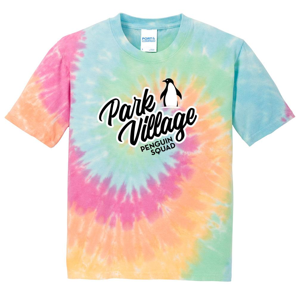 Port & Company - Youth Tie-Dye Tee - Pastel-Rainbow