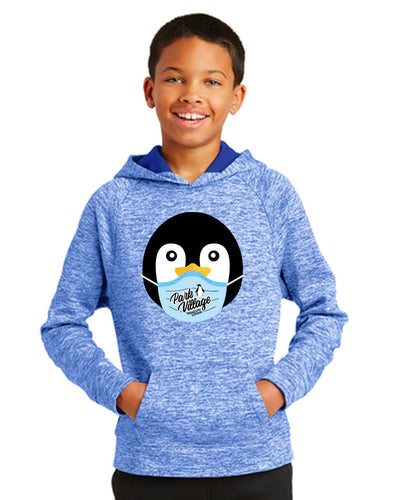 PVF Penguin Mask Sport-Tek Posicharge Electric Heather Pullover - True-Royal-Electric