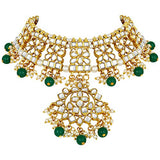 18K Gold Plated Traditional Handcrafted Faux Kundan Studded Jewellery Set For Women (K7057G)