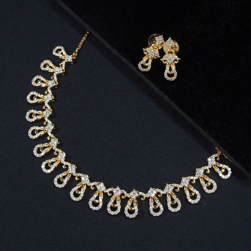 Bella Gold Plated Jewellery Set