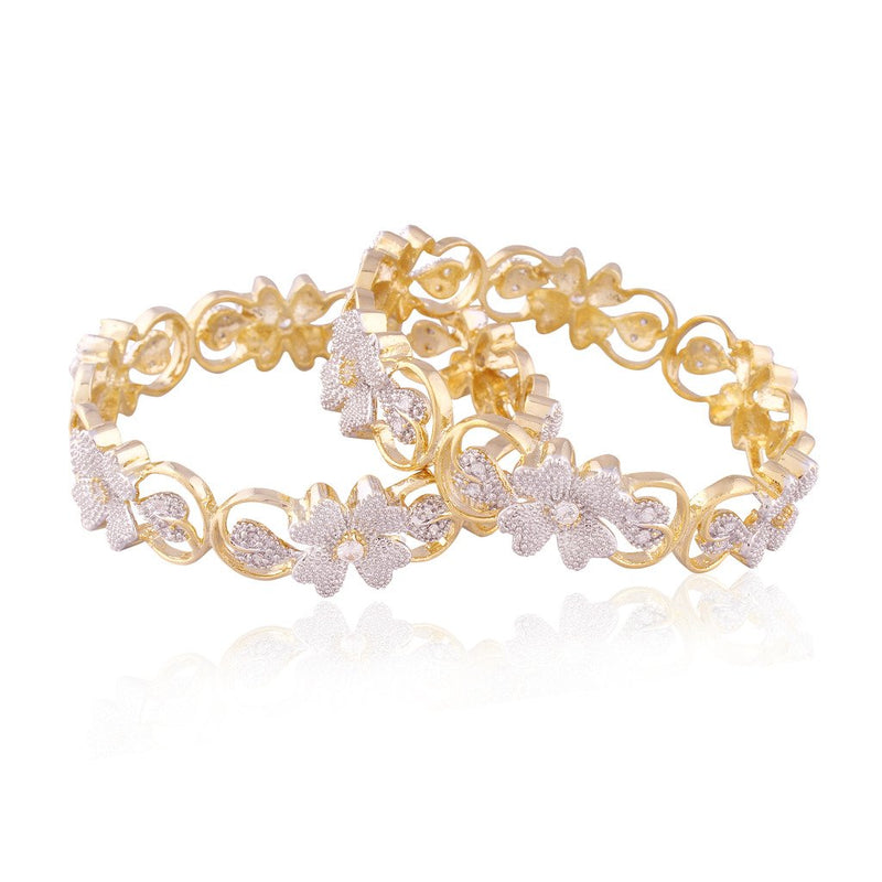 American Diamond Gold Plated Bangles for Women