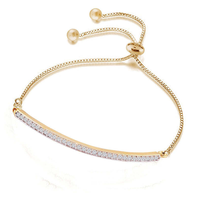 Fashion Crystal Gold Solitaire CZ Charm Bracelet for Women