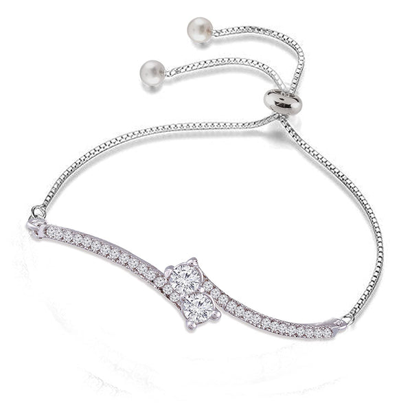 Fashion Crystal Solitaire CZ Charm Boho Bracelet for Women
