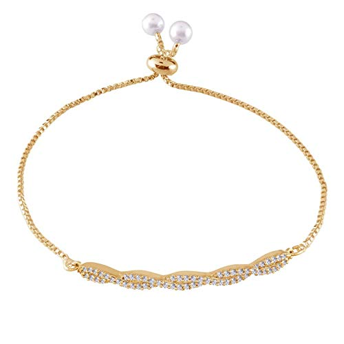 CZ Gold Plated Fancy Bracelet for Women