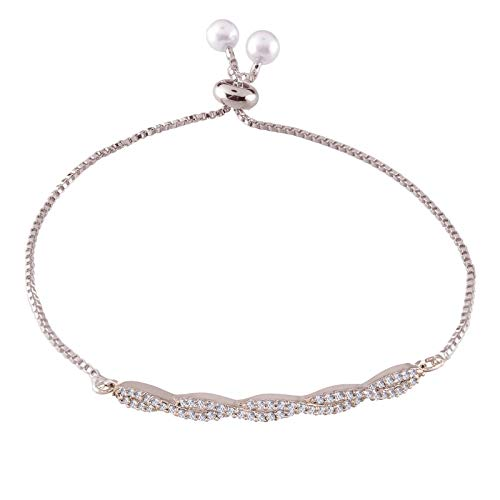 CZ Silver Plated Fancy Bracelet for Women