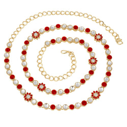 Traditional Gold Plated Kundan & Stone Studded Kamarband for Women B003R