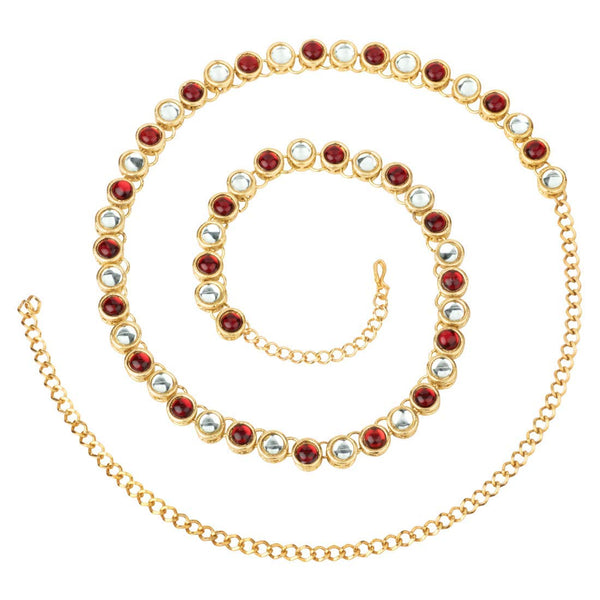 Gold Plated Kundan Belly Chain Kamarband for Girls Women (B020M)