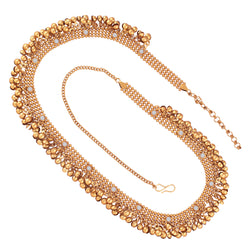 Traditional Gold Plated Stone Studded Kamarband for Women (B023)
