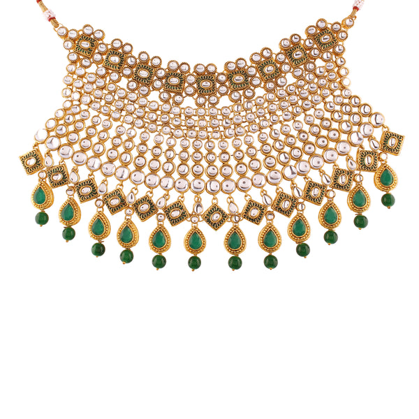 Traditional Gold Plated Kundan Pearl Ethnic Bridal Jewellery Set for Women