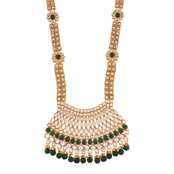 Traditional Gold Plated Kundan Pearl  Ethnic Bridal Wedding & Jewellery Set for Women