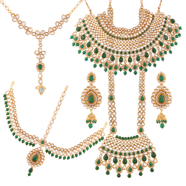 Traditional Gold Plated Kundan & Pearl Choker Bridal Set for Women