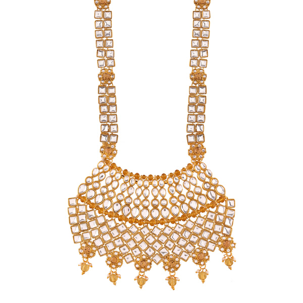 Kundan Pearl Choker Traditional Gold Plated Bridal Wedding & Engagement  Jewellery Set for Women