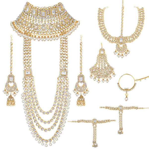 Traditional Ethnic Indian Kundan Dulhan Bridal Jewellery Set for Women