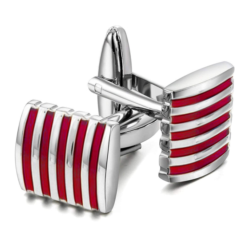 Pink Silver Unique Shirt Cufflinks for Men/ Business Co-Operate