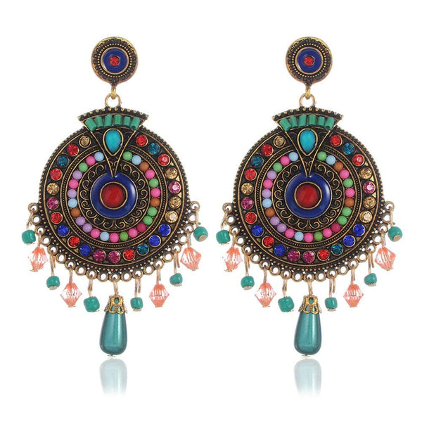 Multicolour Gold-plated Fashion Jewellery Party Wear Earrings for Women and Girls