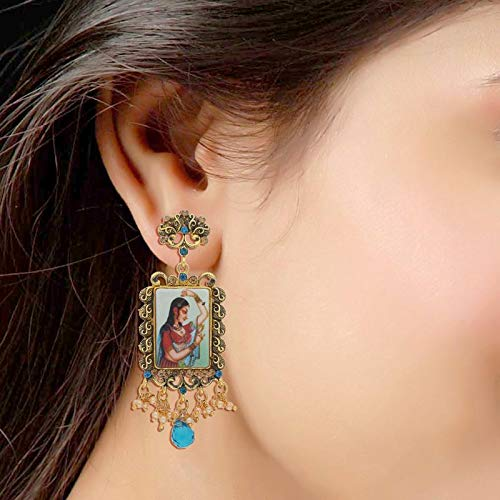 Traditional Gold Plated Padmavati Pearl Earrings for Women (E2024Bl)