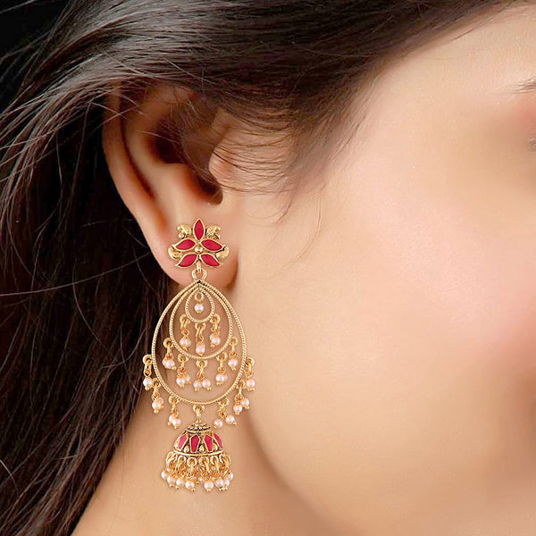 Gold Plated Jhumki Earrings for Women (E2471Q)