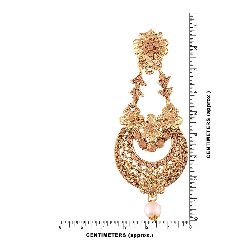 Gold Plated Traditional Chandelier Earrings For Women E2601FL