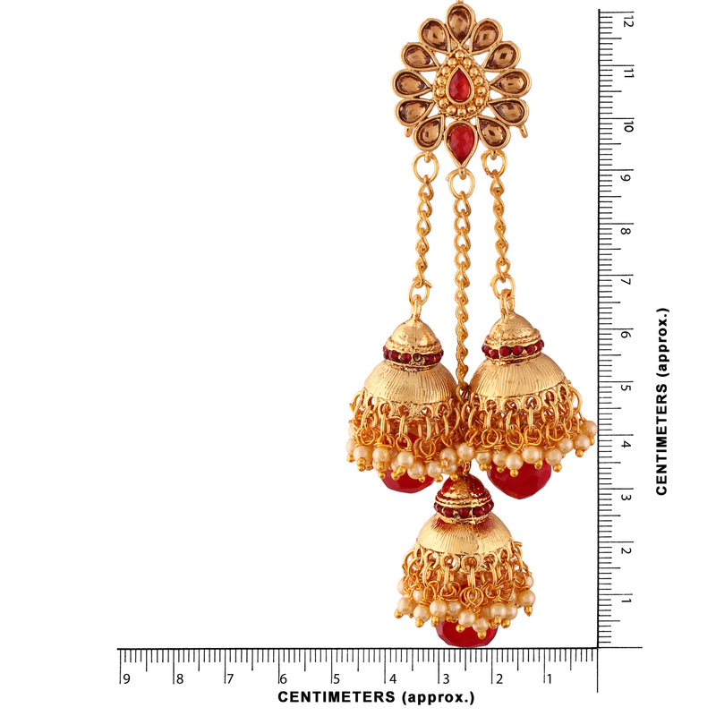 Gold Plated Pearl Jhumki Earrings for Women