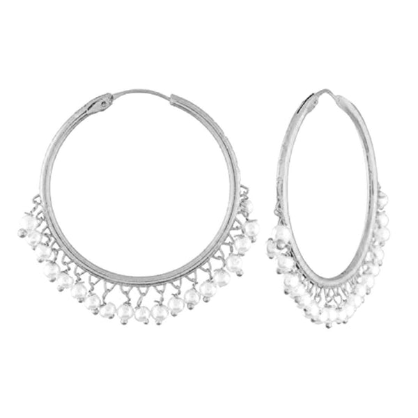 Silver Plated Pearl Stylish Fancy Earring for Women