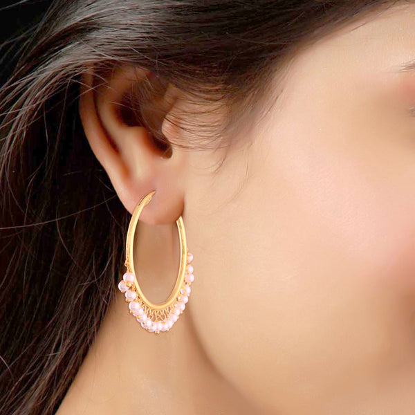 Gold Plated Pearl Stylish Fancy Earring for Women