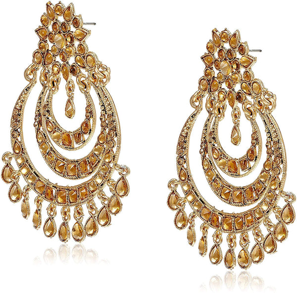 Gold Plated Designer Chandbali Earrings for Women (E2633)