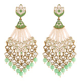 18K Gold Plated Traditional Handcrafted Meena Work Earring Glided With Kundan & Pearls (E2792Min)