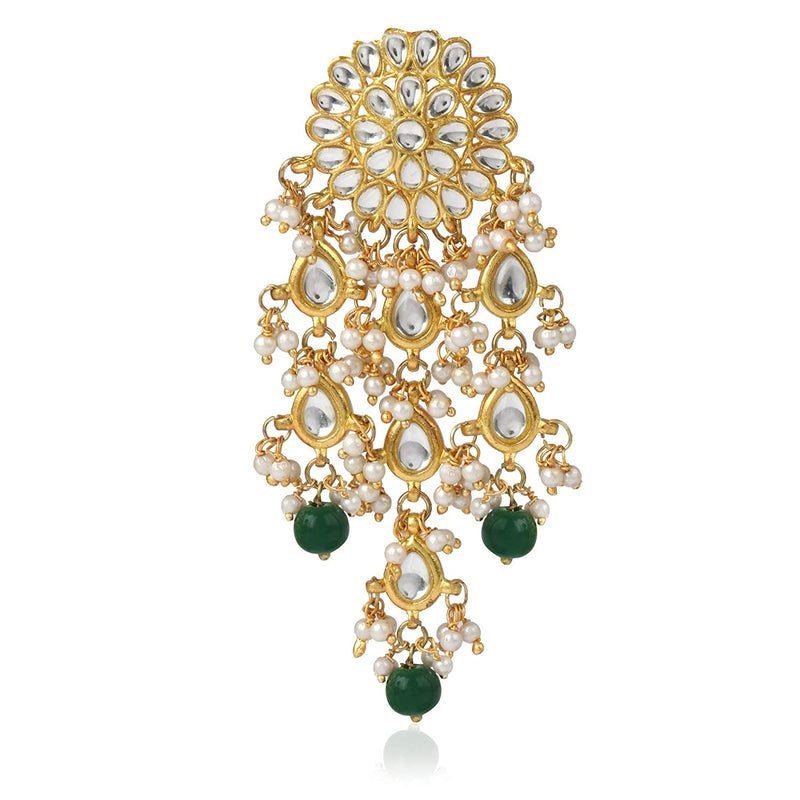 Traditional Gold Plated Kundan Pearl Lookethnic Stylish Earrings for Women