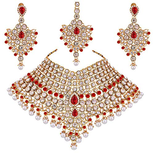 Traditional Gold Plated Kundan Bridal Dulhan Jewellery Set for Women