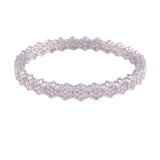 Traditional 18K Silver Plated Floral Brass Bangles Encased With CZ American Diamonds For Women/Girls (ADB300S)