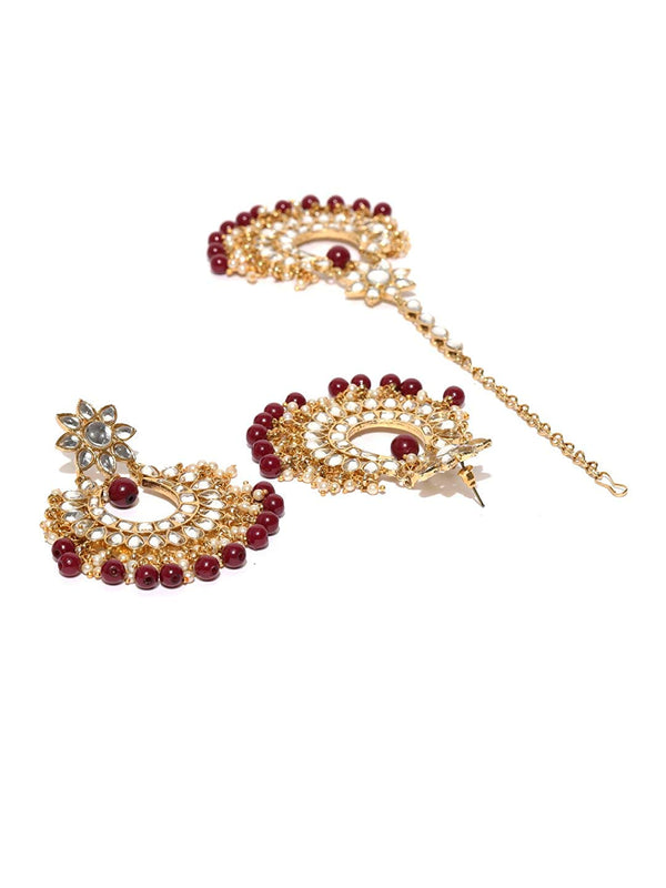 Traditional Gold Plated Bridal Kundan Choker Jewellery Set for Women (K7085R)