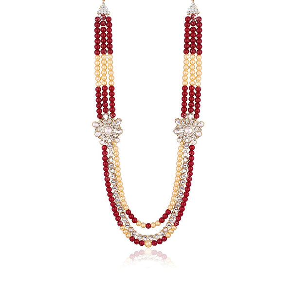 Traditional Wedding Gold Plated Moti Mala/ Necklace for Men