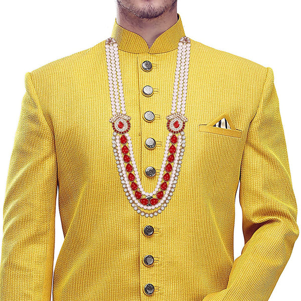 Traditional Gold Plated Groom  Moti Mala/Necklace for Men