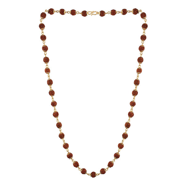 Traditional Gold Plated Rudraksha Mala/Necklace for Men & Women