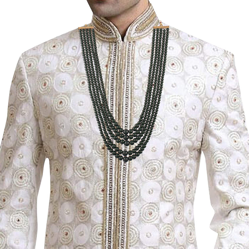 Traditional Gold Plated Groom Necklace/Moti Mala for Men