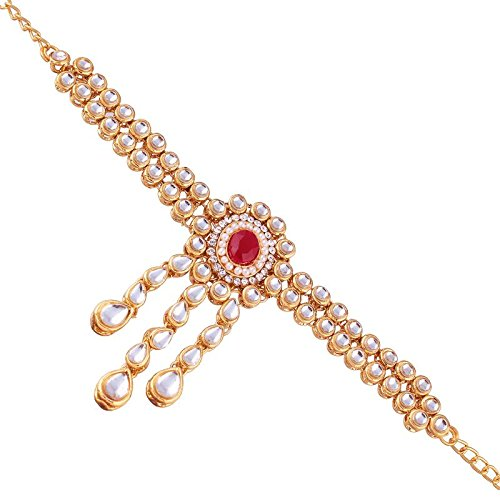 Gold Plated Kundan Double line Bajubandh Jewellery Set for Women (PB02Q)