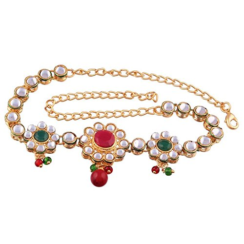 Gold Plated Kundan Designer Bajubandh Jewellery Set for Women (PB03QG)