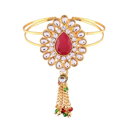 Gold Plated Kundan Bajubandh Jewellery Set for Women (PB04Q)